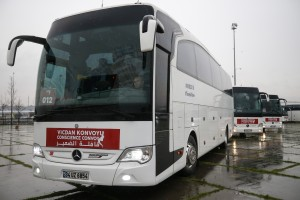 The International Conscience Convoy sets off from Istanbul