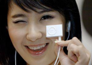 A South Korean model displays a new mode