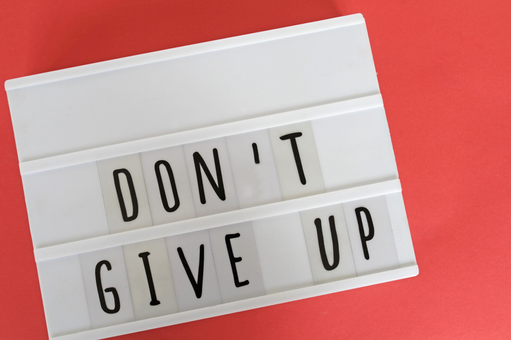 DON'T GIVE UP message